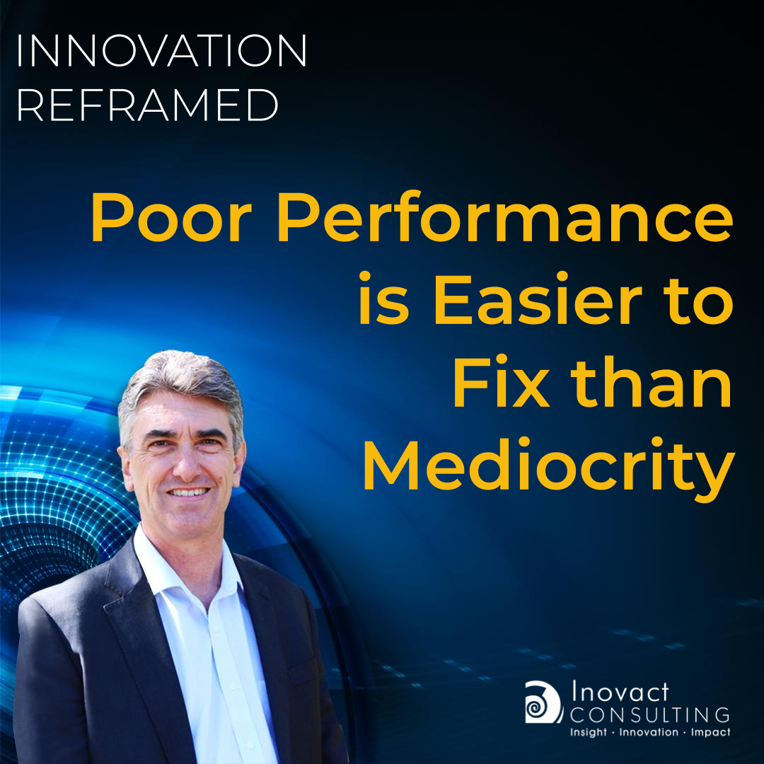 Poor Performance is Easier to Fix than Mediocrity